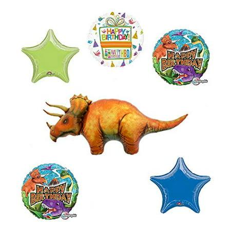 Dinosaur Birthday Party Supplies Triceratops Balloon Bouquet Decorations - Dinosaur Birthday
