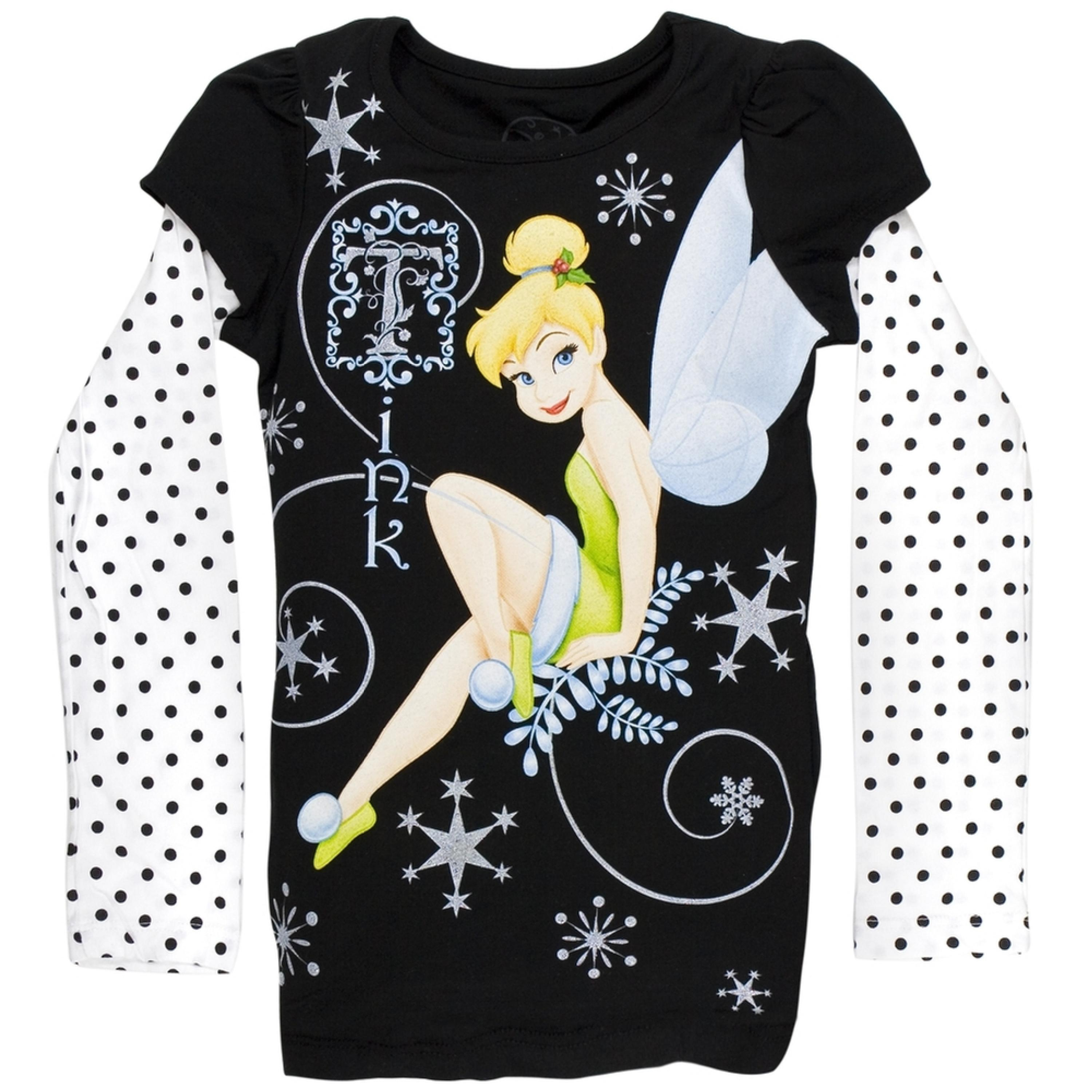 Tinkerbell - Snowflake Youth 2Fer Long Sleeve T-Shirt