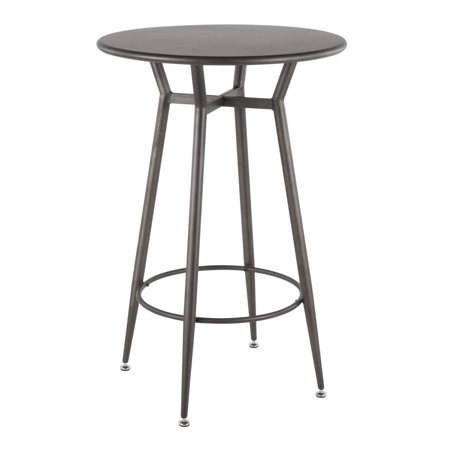Clara Industrial Round Bar Table in Antique Metal by (Round Metal Bar)