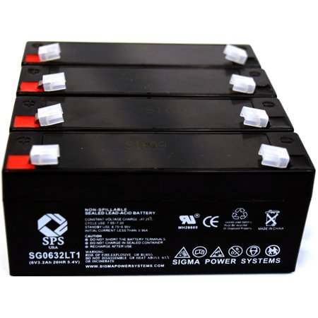 Tissue Processor - SPS Brand 6 V 3.2 Ah Replacement Battery with Terminal T1  for Bear Medical Systems ULTRA 2 TISSUE PROCESSOR (4 PACK)