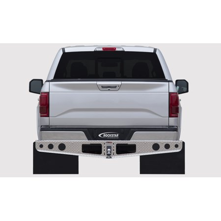 (Rockstar Hitch Ford F250 & F350 Diamond Plate Finish Mounted Mud Flaps)