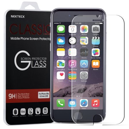 iPhone 8 / 7 Screen Protector, Nekteck iPhone 8 7 6 6S 0.2mm Tempered Glass Ballistic HD Glass Screen Protector (4.7 inch) Work with Protective Protection Case [3D Touch