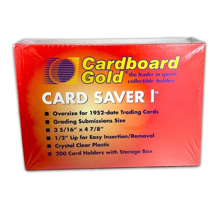 Graded Card Sleeves (200ct Box of Card Saver 1 - Semi Rigid Graded Card Toploader Holders -)