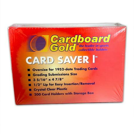 200ct Box of Card Saver 1 Semi Rigid Graded Card Toploader
