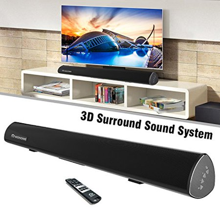 Wireless Audio Soundbar,38-Inch 80Watt Home Theater Soundbar/Music Speaker for Streaming TVs Phones Tablets PSP PCs by Wohome(2017 Model)