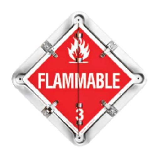 LABELMASTER 81-8FO Full Frame Trailer Flip Plcard,13-1/2inH G0273589