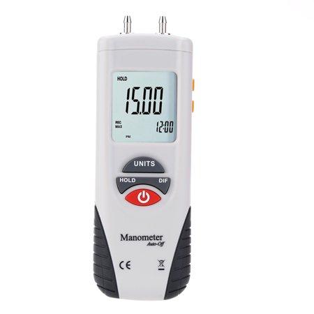 LCD Mini Digital Manometer Differential Gauge Air Pressure Meter ±2Psi Data Hold 11 Units - image 1 of 1