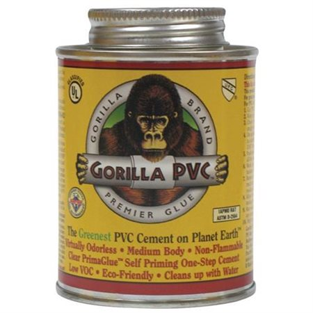 Gorilla Pvc Cement Low Voc 8 Oz Clear