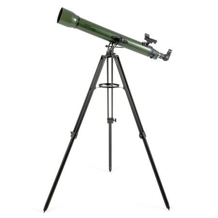Celestron ExploraScope 80AZ StarPointer Refractor Telescope with 2
