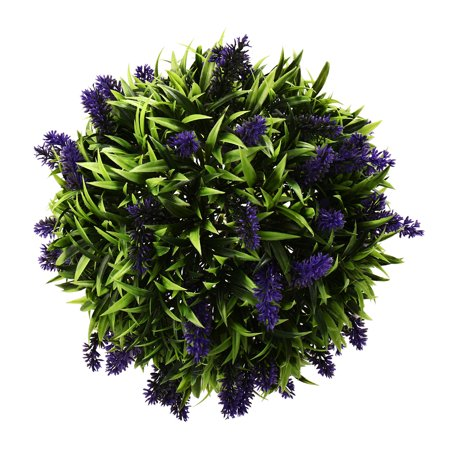22/28cm Artificial Lavender Flower Ball Hanging Topiary Home Garden Basket Plant