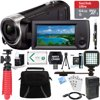Sony HDR-CX405/B Full HD 60p Camcorder + 64GB Ultra MicroSDXC UHS-I Memory Card + NP-BX1 Battery Pack + Accessory Bundle E12SNHRDCX405 CAMCORDER INCLUDES:HDR-CX405/B Full HD 60p CamcorderRechargeable Battery Pack (NP-BX1)USB AC adapterHDMI (micro) CableUSB Connection Support CableOperating GuideBUNDLE INCLUDES:Sony HDR-CX440 CamcorderCompact Deluxe Gadget Bag for Cameras/Camcorders64GB Ultra MicroSDXC UHS-I Memory CardNP-BX1 Battery PackBattery Charger for NP-BX1SLR Photo/Video Rechargeable LED Light12-inch Rubberized Spider TripodMemory Card Wallet Card Reader Mini Tripod Screen Protectors 3 Piece Cleaning Kit Microfiber Cleaning ClothHigh Speed Micro HDMI to HDMI Cable 6ft.LCD Lens Cleaning Pen