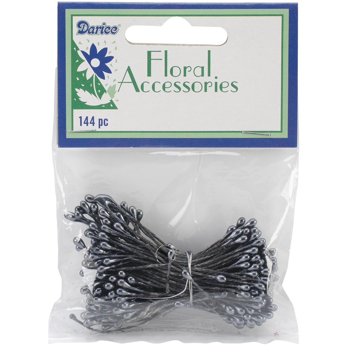 "Flower Stamens 2"" 144/Pkg-Black Pearl"