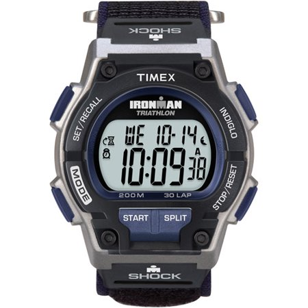 Timex Men's Ironman Endure 30 Shock Full-Size Watch, Black Fast Wrap Strap