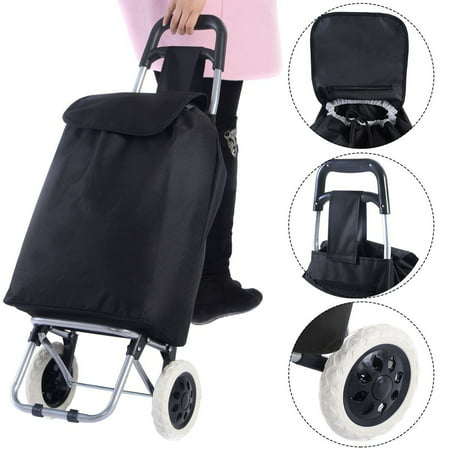 Standard Capacity Print Cart (Large Capacity Light Weight Wheeled Shopping Trolley Push Cart Bag)