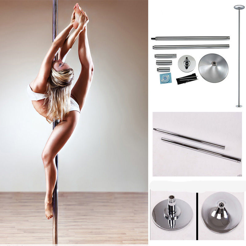 TMISHION Pro 45 mm Solid Spinning Static Dance Pole for S...