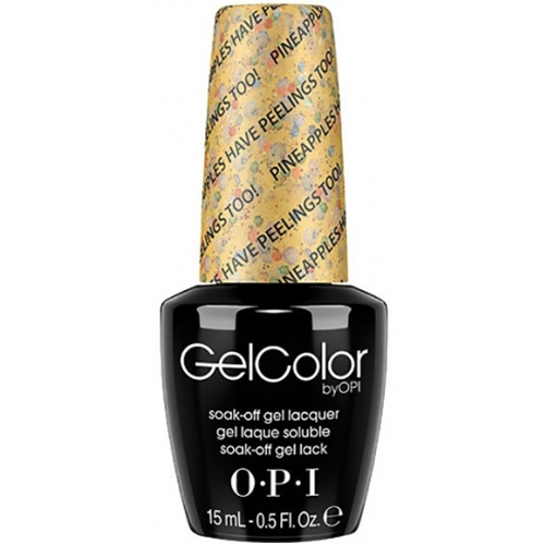 OPI Gel Color Nail Polish Lacquer - Hawaii Collection - GC H76 - Pineapples Have Peelings Too!, 0.5 Fluid Ounce