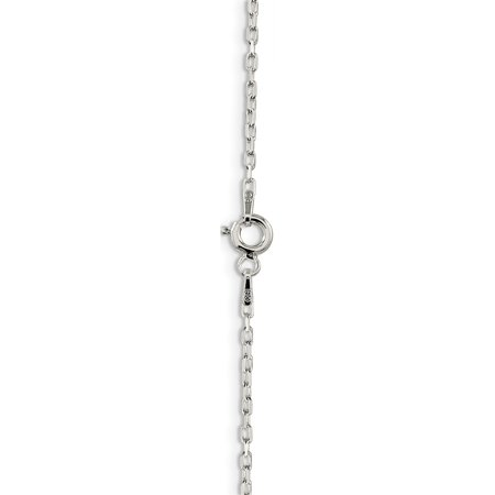 925 Sterling Silver 1.65mm 8 Sided Diamond Cut Cable Chain - image 3 of 5