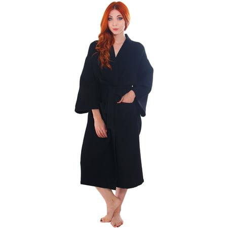 Simplicity 100 Cotton Waffle Weave Kimono Spa Robe