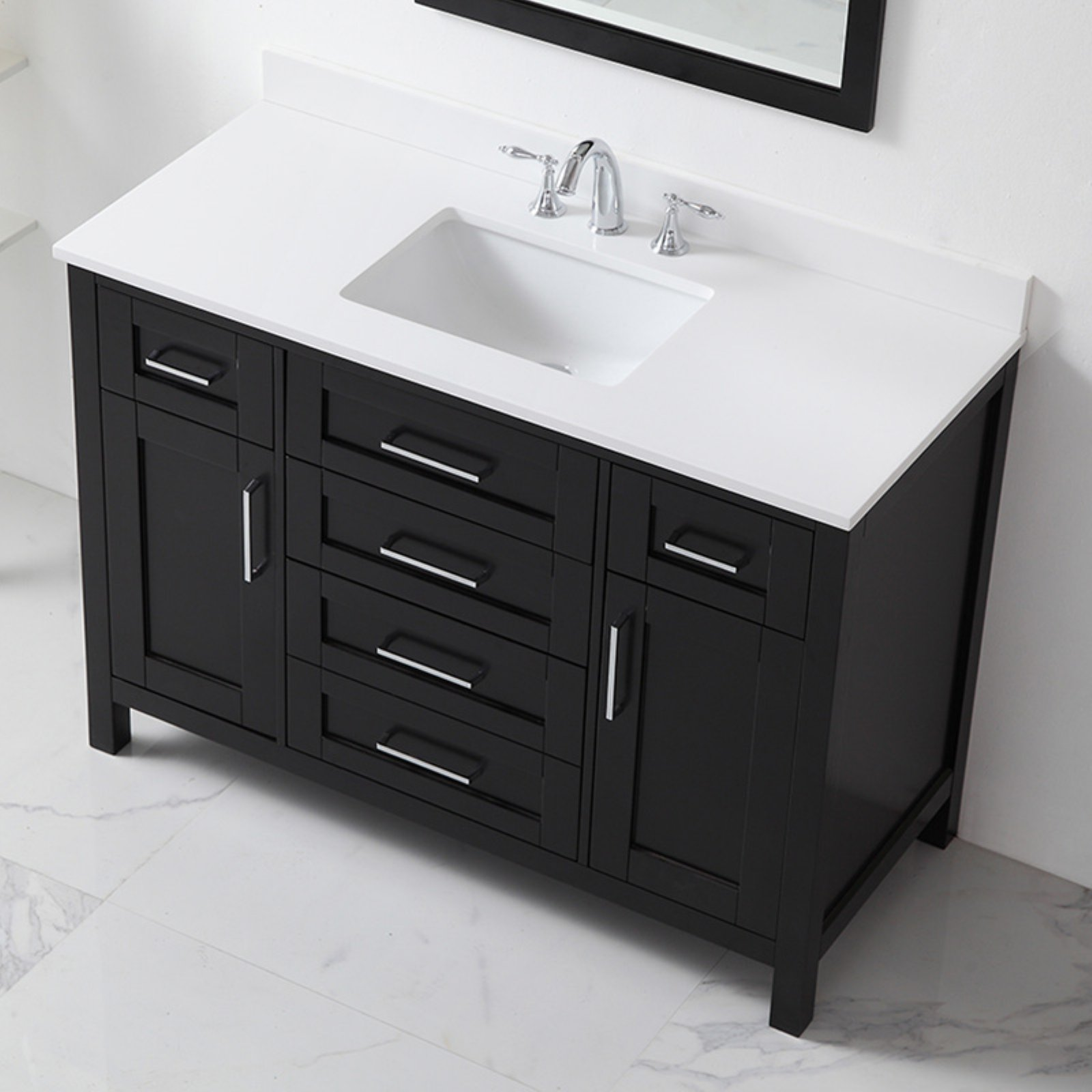 Ove decors 48 in single sink bathroom vanity - Walmart bathroom vanities with sink ...