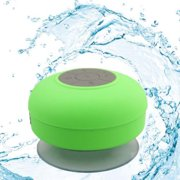 Soundworx Green Mini Waterproof Bluetooth 3.0 Shower Speaker with Built-in Mic, for  All Bluetooth Devices