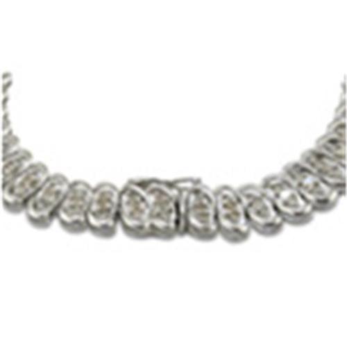 SuperJeweler H021120 SS Fantastic 3Ct Ladies Diamond Bracelet Crafted In Sterling Silver