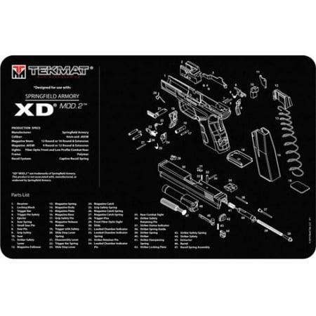 Shooting Mat - TekMat Pistol Mat for Springfield XD Mod 2, 11