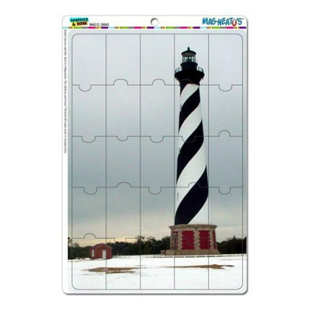 Graphics and More Cape Hatteras Lighthouse Light House Mag-Neato's Novelty Gift Locker Refrigerator Vinyl Puzzle Magnet Set