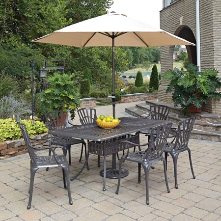 home styles largo 7pc outdoor dining set includes rectangular table 6