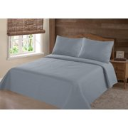 """3PC WARM QUILT SET MIDWEST QUEEN NENA SLATE SOLID COVERLET BEDDING BEDSPREAD SUPERSOFT INCLUDES 1 QUILT SIZE : 86""""X86"""" + 2 PILLOWCASE"""