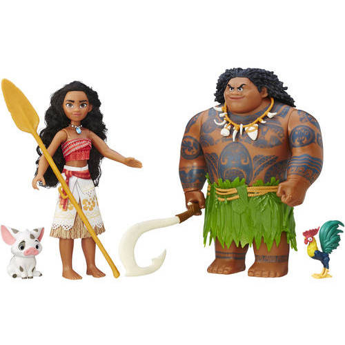 Moana Pua Maui Heihei Figure Figurines Party Favors Pack Characters Toy Gift Set