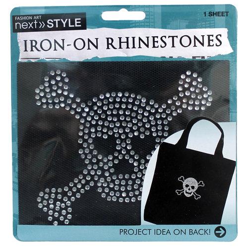 Iron On Stones Medium Skull