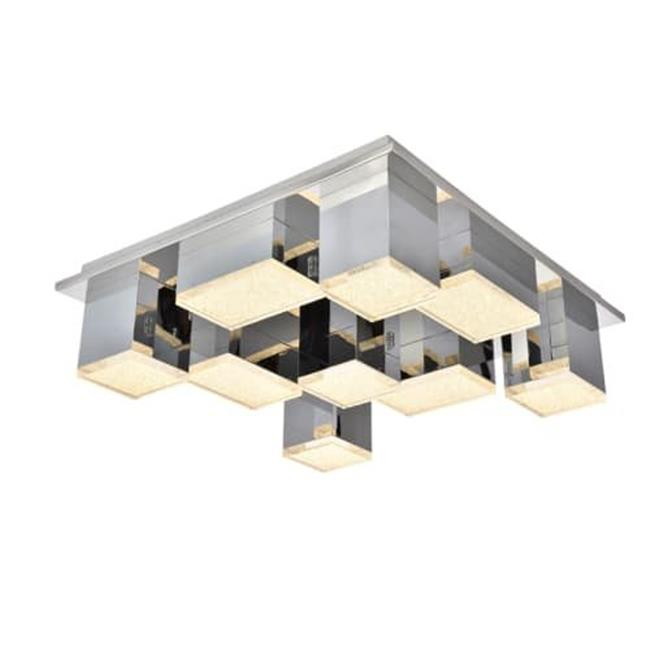 Elegant Lighting 5100F9C Glasgow 9 Light Flush mount, Chrome - image 1 of 1
