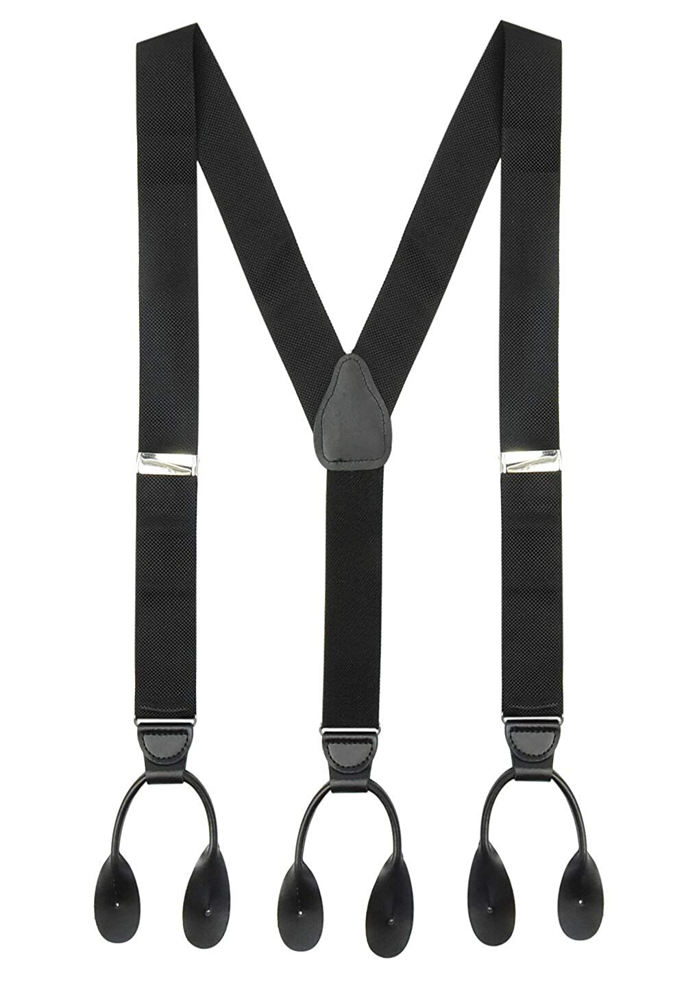 CUSTOM LEATHERCRAFT Work Suspenders,No 110BLU 3PK