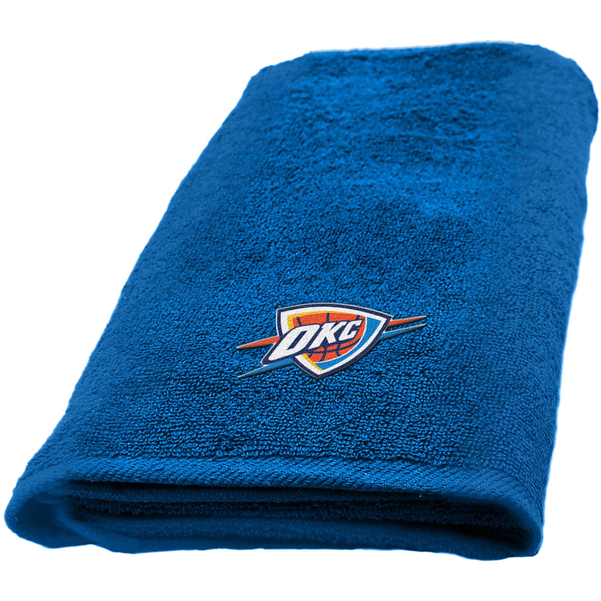 """NBA Oklahoma City Thunder 11"""" x 18"""" Applique Fingertip Towel, 1 Each"""