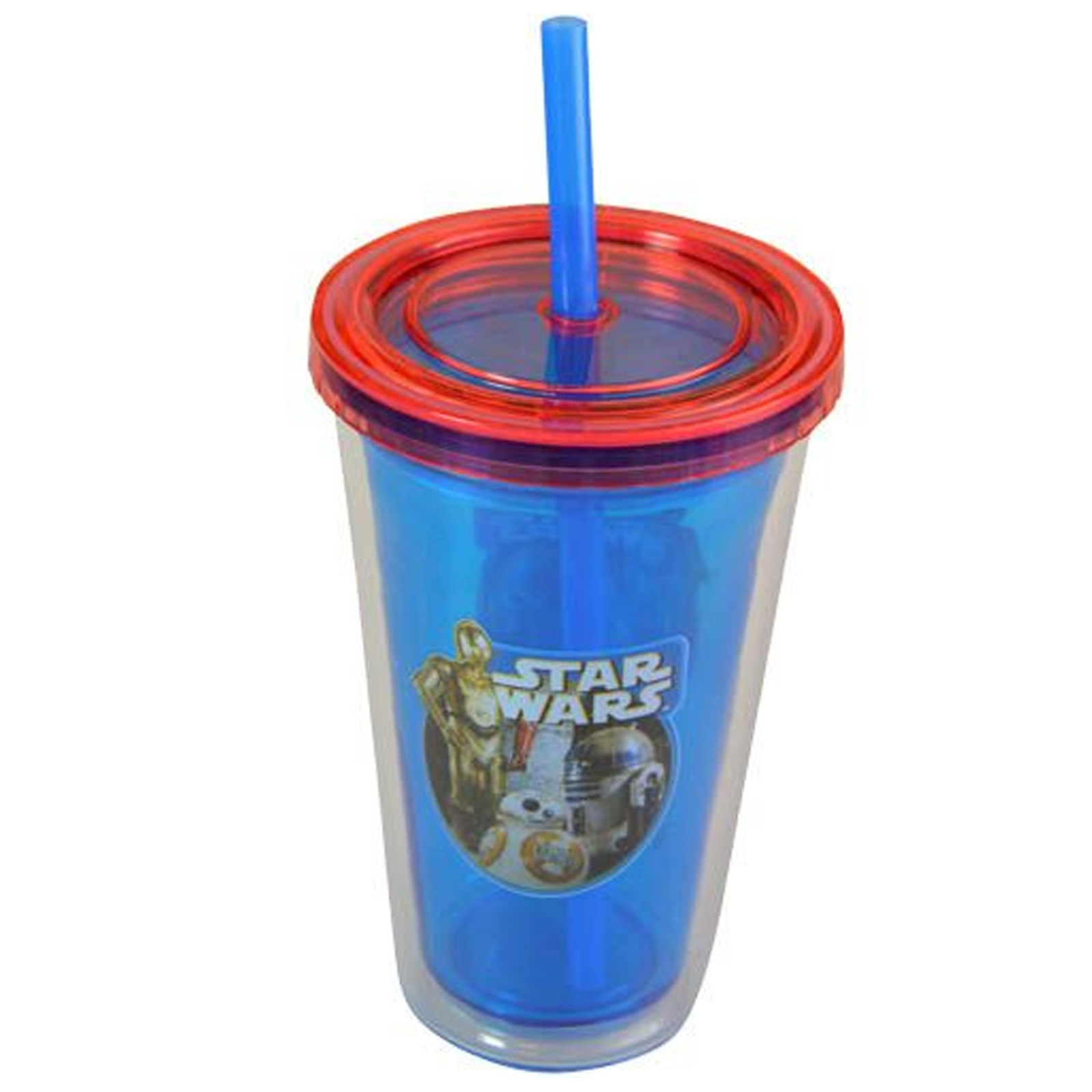 Star Wars Kids 12 Ounce Fun Travel Water Bottle Tumbler with Straw