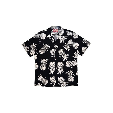 63b9f45d Robert J. Clancey - Men's Robert J Clancy Pineapple Aloha Camp Shirt -  Short Sleeve Hawaiian Shirt - Large - Walmart.com