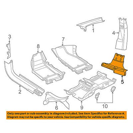 Dodge CHRYSLER OEM 14-16 Dart Interior-Center Pillar Trim Right 5NP10DX9AC