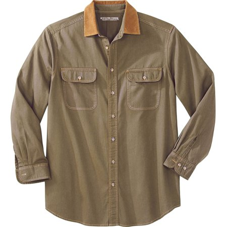 Boulder Creek Men's Big & Tall Long Sleeve Corduroy Collar Renegade (At And T Store Boulder Co)