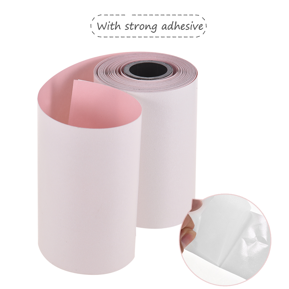 photo relating to Printable Sticker Paper Walmart identify Printable Coloration Sticker Paper Roll Guide Thermal Paper with Self-adhesive 57*30mm(2.17*1.18within just) for PeriPage A6 Pocket Thermal Printer for PAPERANG
