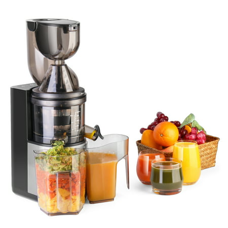 Masticating Juicer Machine - Slow Cold Press Juice Extractor Maker Electric Juicing vertical ...