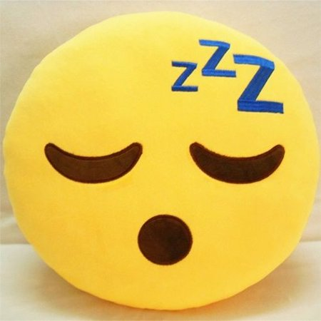"SLEEPY PLUSH & PLUSH® TM 12"" Inch / 30cm Large Emoji Pillows Smiley Emoticon Soft Plush Stuffed Yellow Full Collection Cushions (USA SELLER)"