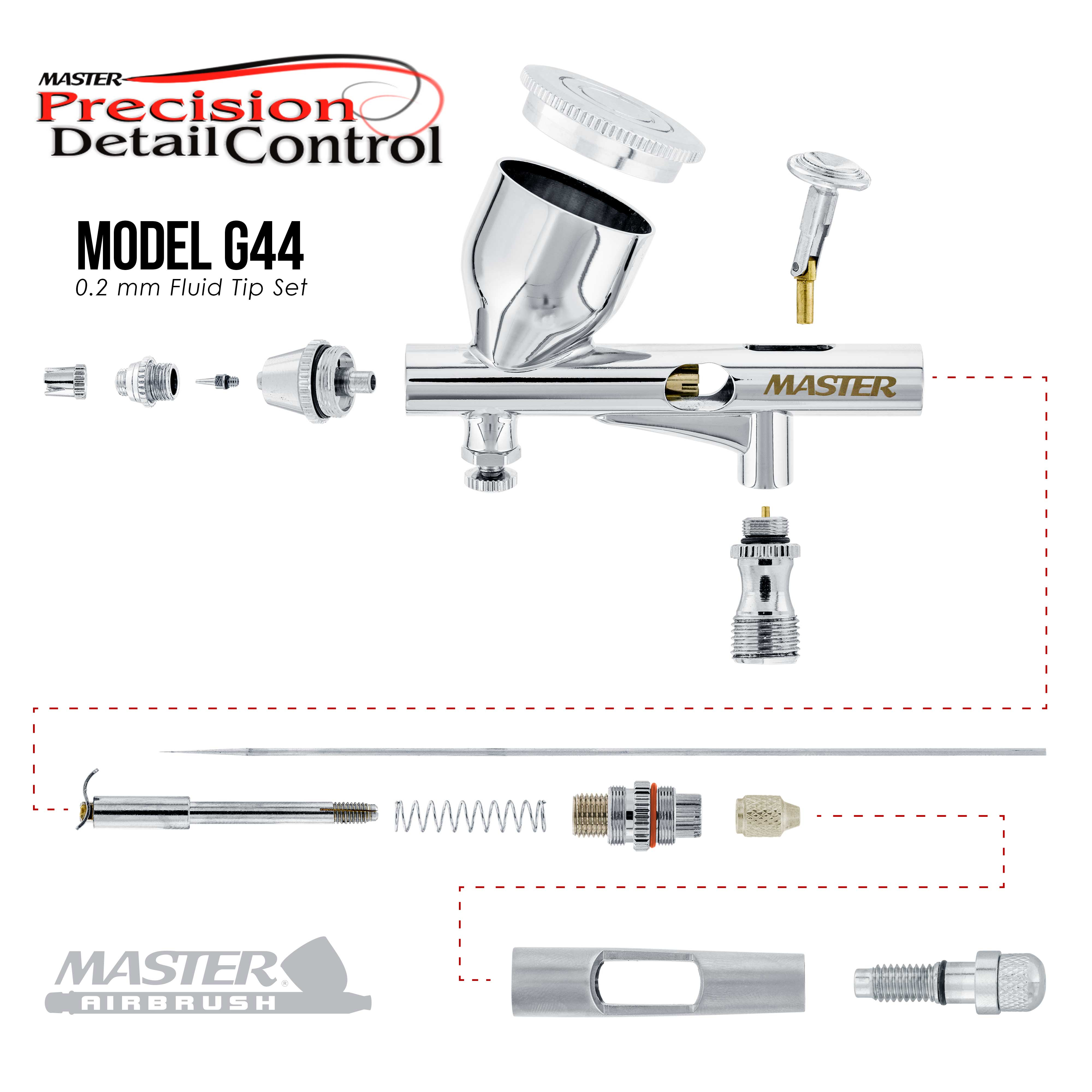 Complete Professional Airbrush System Kit With G44 Master Airbrush Master Compr