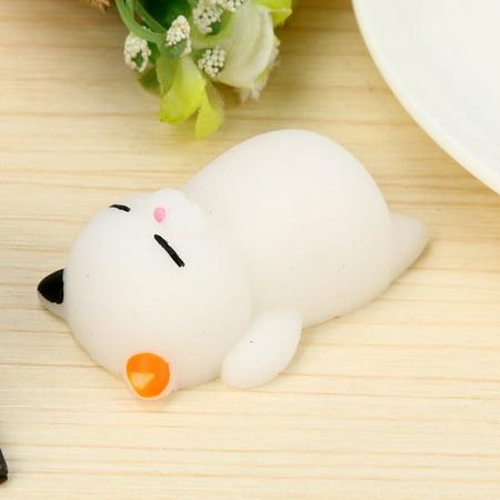 Cute Mochi Cat Squishy Squeeze Healing Fun Kids Toy Stress Reliever