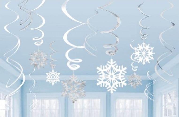 Disney Frozen Birthday Party Hanglers Hanging Swirl Decorations 12ct