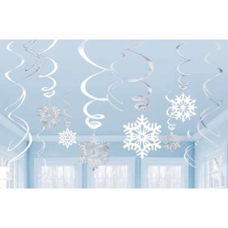 Amscan Snowflake Swirl Decorations 12 Ct](Snow Flake Decorations)