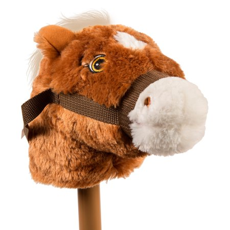 Rockin' Rider Animated Plush Talking Stick Pony, (Brown Jester Stick)