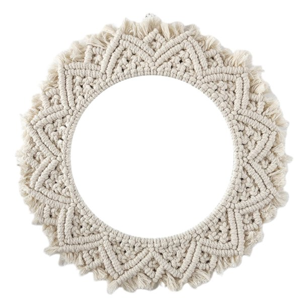 Round Lace Wall Hanging Mirror Art Deco Hand-Made Cotton ...