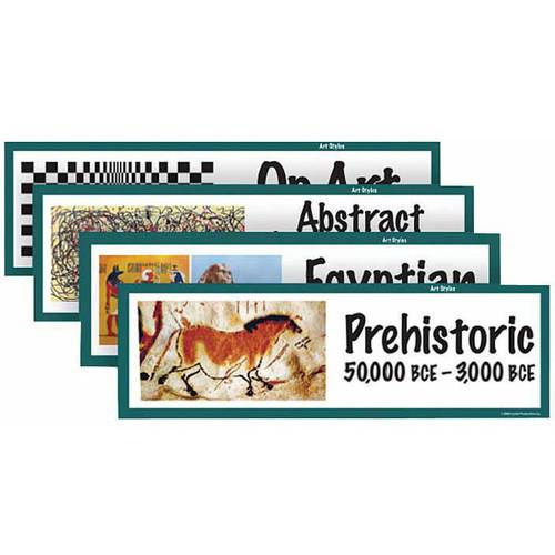 "School Specialty Art Styles Art Display Cards, 18"" x 6"", Set of 32"