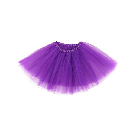 Adult Classic 3-layered Tulle Tutu Ballet Skirts Ruffle Pettiskirt, Dark Purple (Pettiskirt Adult)