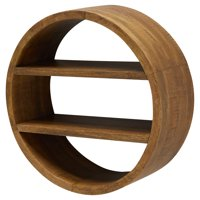 Round Mango Wood Wall Shelf by Drew Barrymore Flower Home